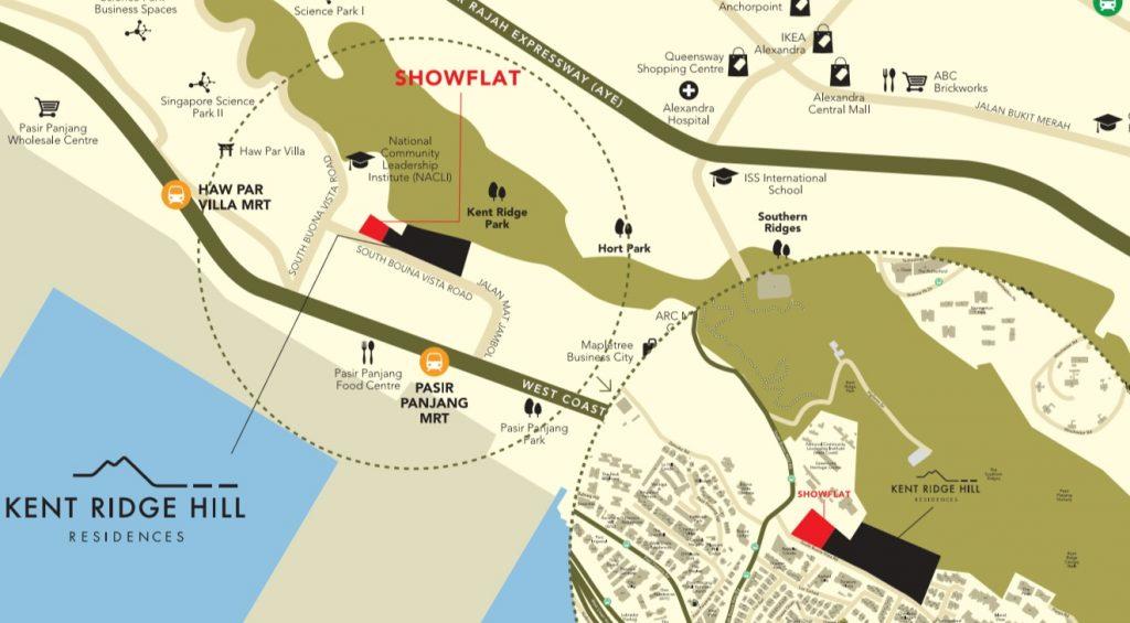 Kent Ridge Hill location show flat map