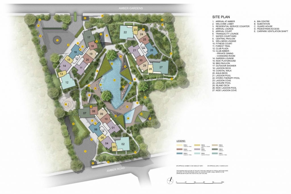 Amber Park by CDL Site Plan
