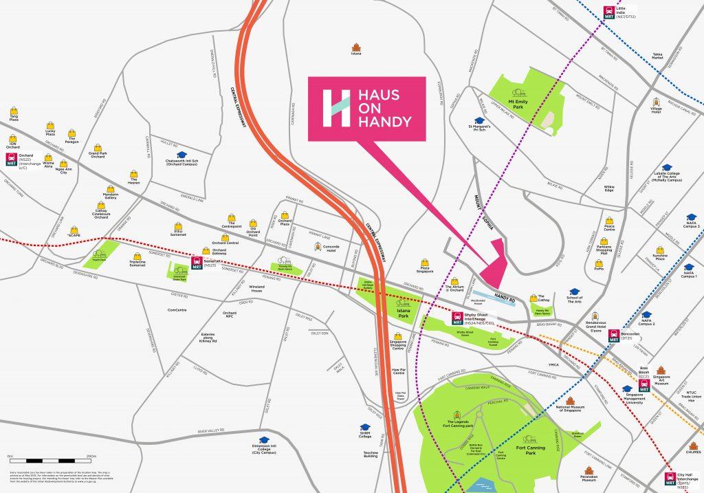 HAUS ON HANDY location map
