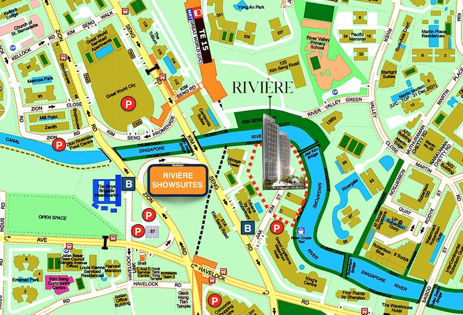 Rivière Location Map